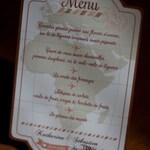 """A l'attention de Katharina, 7 menus pour dîner de mariage """"Voyage Vintage"""" à poser"""