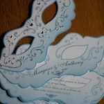 To Margaux: 14 wedding wedding stories in Venice masks, enhanced with sequins and rhinestones