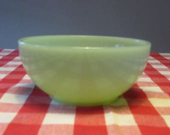 FIRE-KING by Anchor Hocking - Jade-ite thick glass round Chili Bowl/Cereal Bowl - Made in USA - 1950s