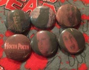 Hocus Pocus Pins Set of 6