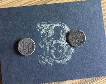 To the Moon Lunar Print Disc Earrings