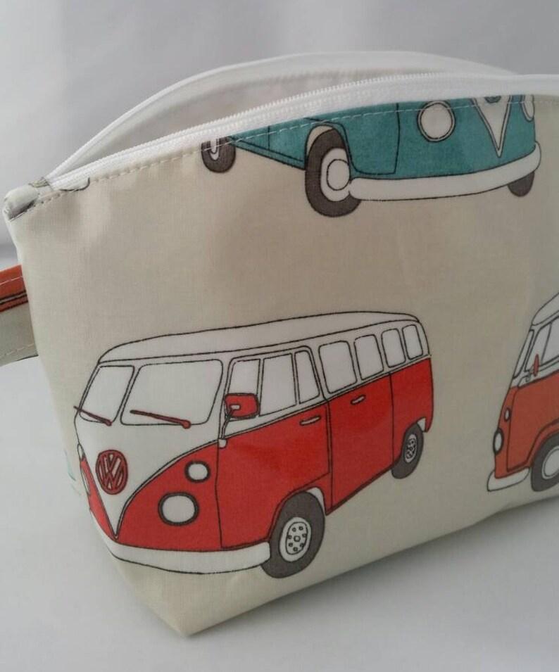 5b33baa08f1a VW Campervan Oilcloth waterproof wash bag   shower bag