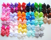 """10 x Surprise mix of medium sized 3.5"""" bows / ribbon bows /  Bonny Bowtique / girls hair accessories / gifts /  UK / school bows /bow holder"""