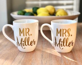 Mr u0026 Mrs Mugs Wedding Gift Bridal Shower Gift Wedding Gift for Couple Engagement Gift Personalized Wedding Gift Couples Gift & Wedding gift couple | Etsy