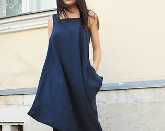 Long Maxi Dress / Linen Maxi Dress / Extravagant Long Dress/Linen Dress/Summer dress /Open Shoulders Dress/Summer Loose Dress/ Rohas/R00018