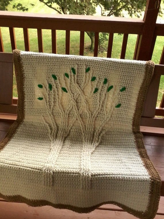 Tree of life lapghan Tree of life afghan Tree baby afghan Crochet tree of  life Tree of life throw