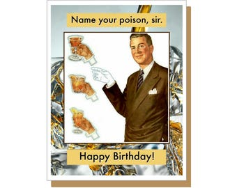 Shipping Handling Male Funny Birthday Card Snarky