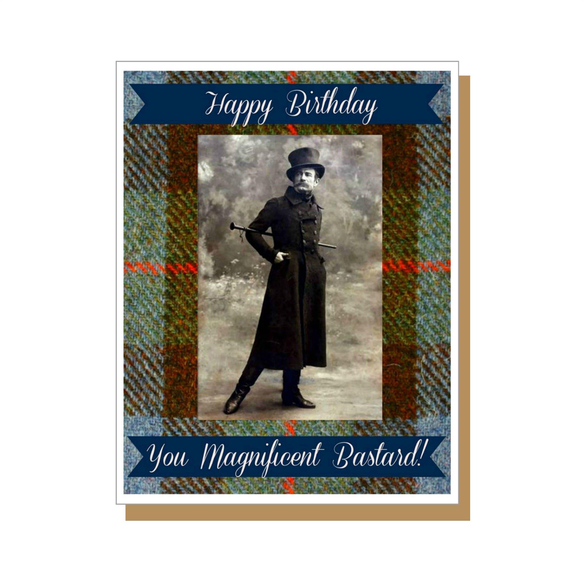 you magnificent bastard funny birthday card male birthday