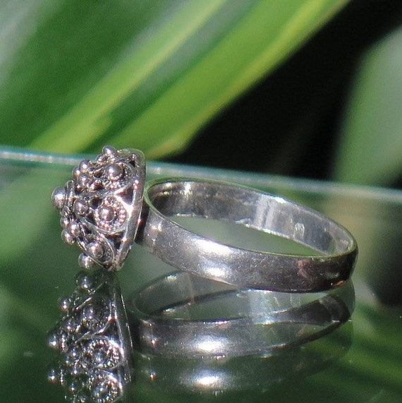 Mothers Day Gift Silver Ring Filigree Ring Traditional Croatian Jewelry O\u0160-013-Ag