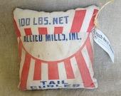 RoughNest Wayne Feeds Allied Mills Vintage Bag Decorative Pillow