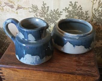 Vintage Sheffield Pottery Green Drip Glaze Creamer Decorative Collectibles