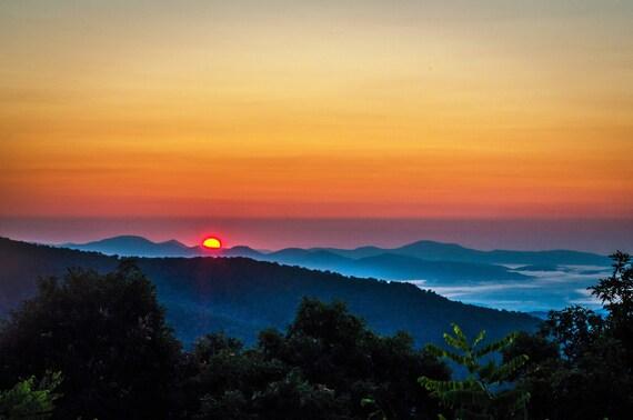 Blue Ridge Mountains Blue Ridge Parkway Blue Ridge Asheville Asheville Nc Asheville Print Asheville Art Morning Stillness