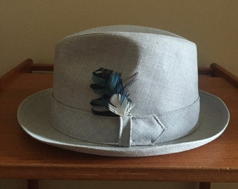 A Biltmore Vintage Grey Summer Fedora. 47e321412ae2