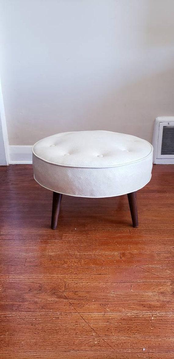 Awe Inspiring Mid Century Modern Large Ottoman Vintage Footstool Machost Co Dining Chair Design Ideas Machostcouk