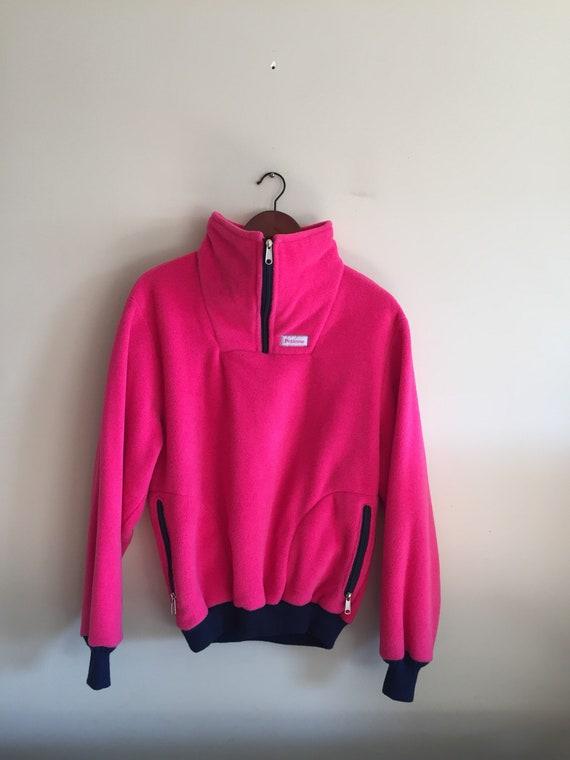 Vintage Neon Pink Polar Fleece