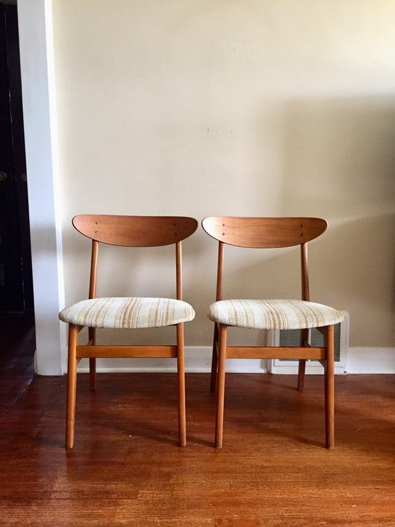 Marvelous Mid Century Modern Danish Teak Dining Chairs By Farstrup Teak Chairs Farstrup Denmark Price Listed Is For Both Chairs Bralicious Painted Fabric Chair Ideas Braliciousco