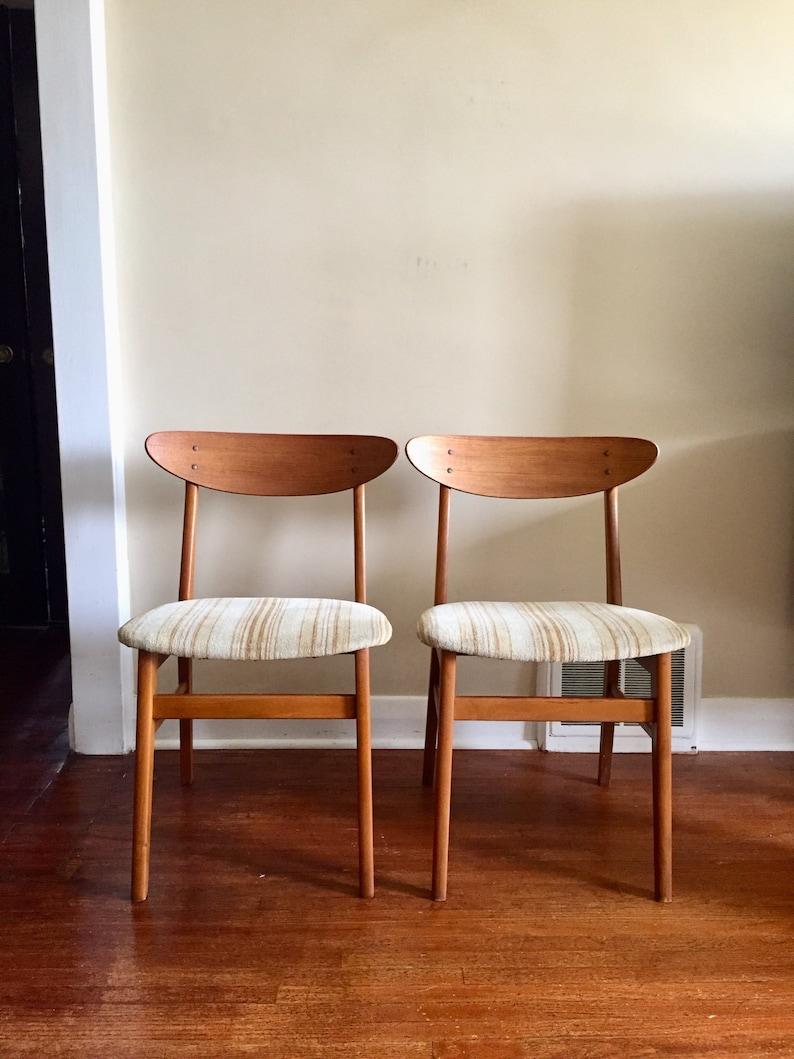 Mid Century Modern Danish Teak Dining Chairs By Farstrup Teak Etsy