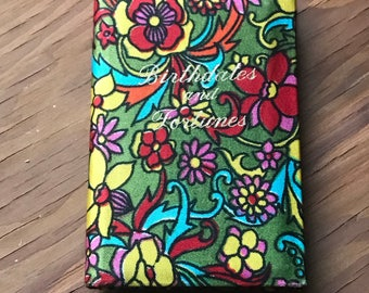 Vintage Vibrant Floral Birthdays and Fortunes Book