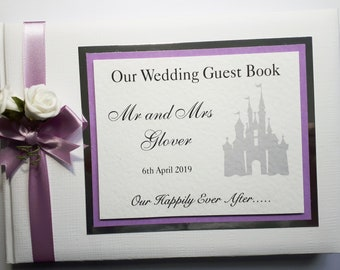 Pink Disney Castle Personalised Any Wording Welcome To Our Wedding Sign