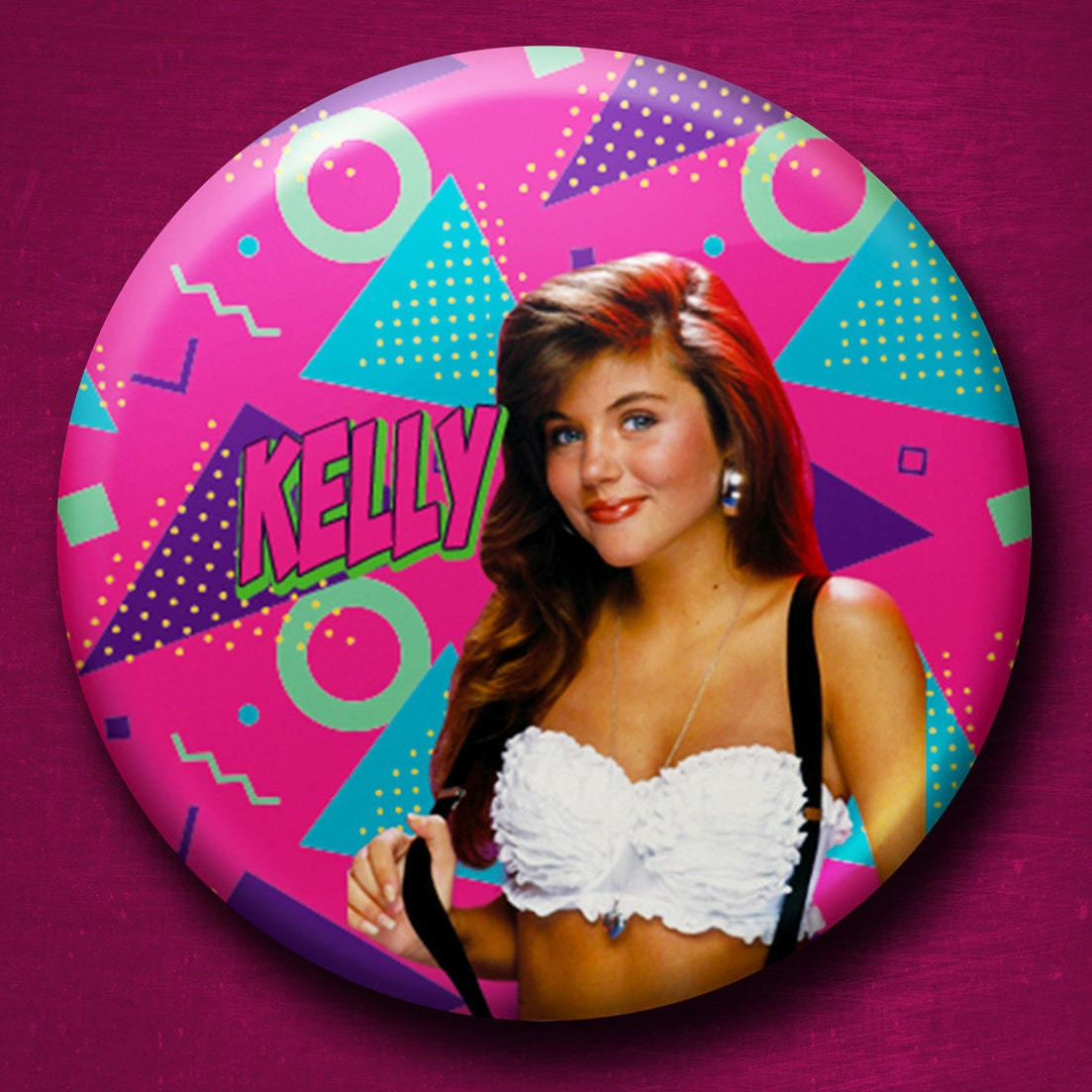 Kelly Kapowski Saved by the Bell 1 Inch Pinback Button Funny | Etsy
