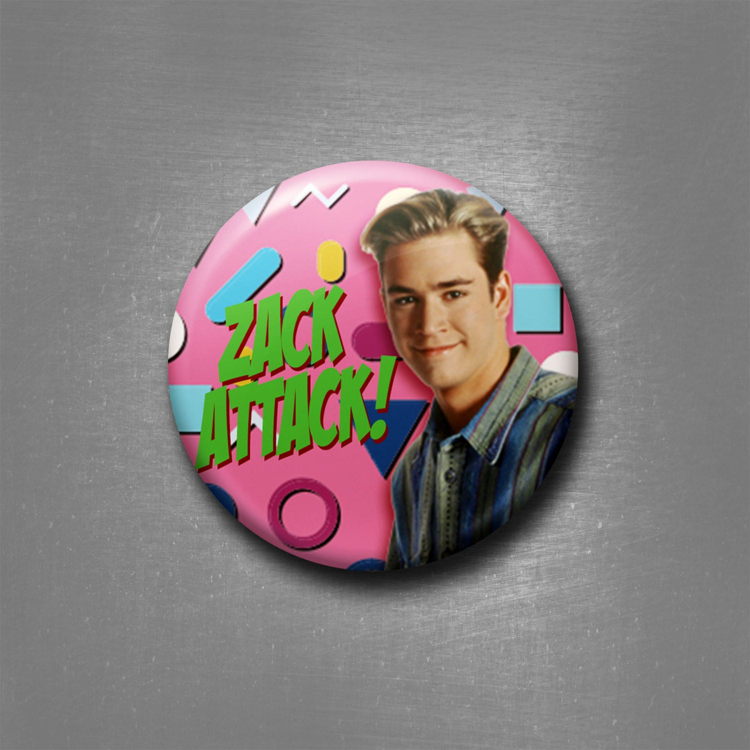 Zack Morris Saved by the Bell Zack Attack 1 Inch Pinback | Etsy