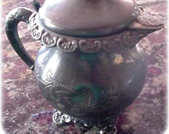 Antique -was- Silverplate Creamer for Restoration, Royal MFG CO