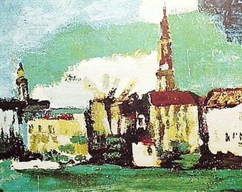 Print, Dresden Neustadt By Oskar Kokoschka Artwork Reproduction, Cityscape