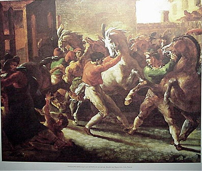 Art Reproduction Print The Riderless Horse Race Le Depart Theodore Gericault