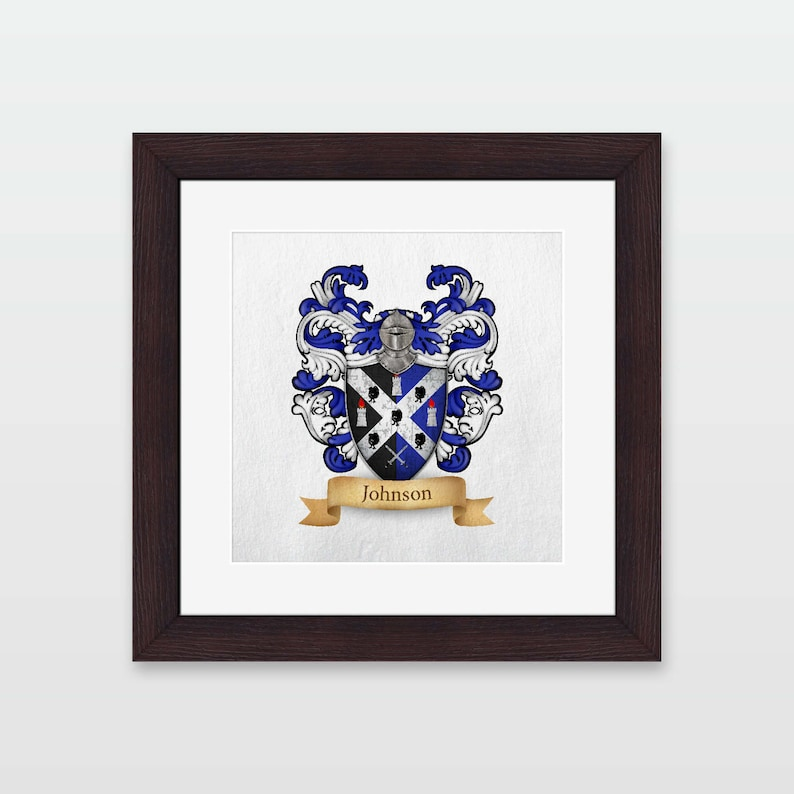 Johnson family coat of arms framed print