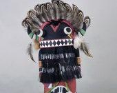 Traditional Hopi Broad face Whipper Kachina Harold Nevayaktewa