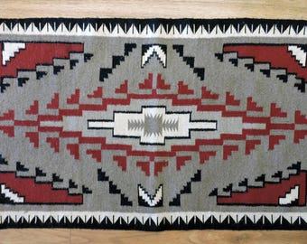 Reduced Price Vintage Navajo Indian Klagetoh Style Rug