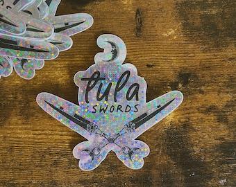 Tula of Swords Glitter Sticker