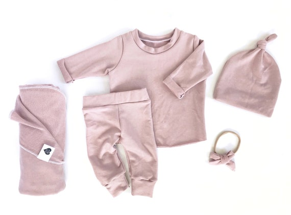 aa175519ce32 Mauve Newborn girl coming home outfit baby girl coming home