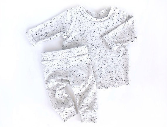 afcc772a3b1f White and Black Toddler Outfit Monochrome Baby Outfit Unisex