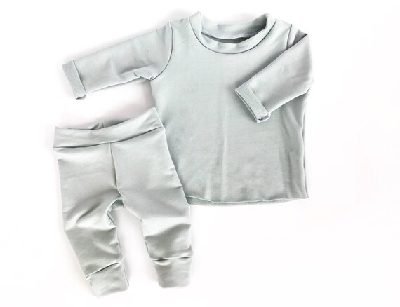 fd00169a61d7 Light Sage Baby Shower Gift Gender Neutral Hospital Outfit