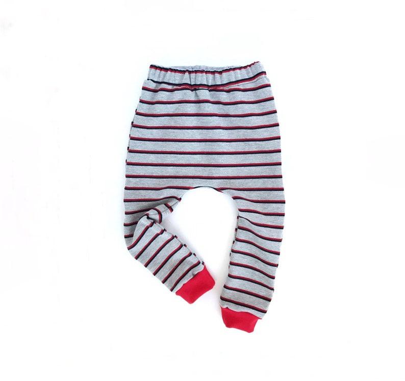 a318fa135c361 Gray Striped baby Sweat Pants Toddler Jogging Pants Harem | Etsy