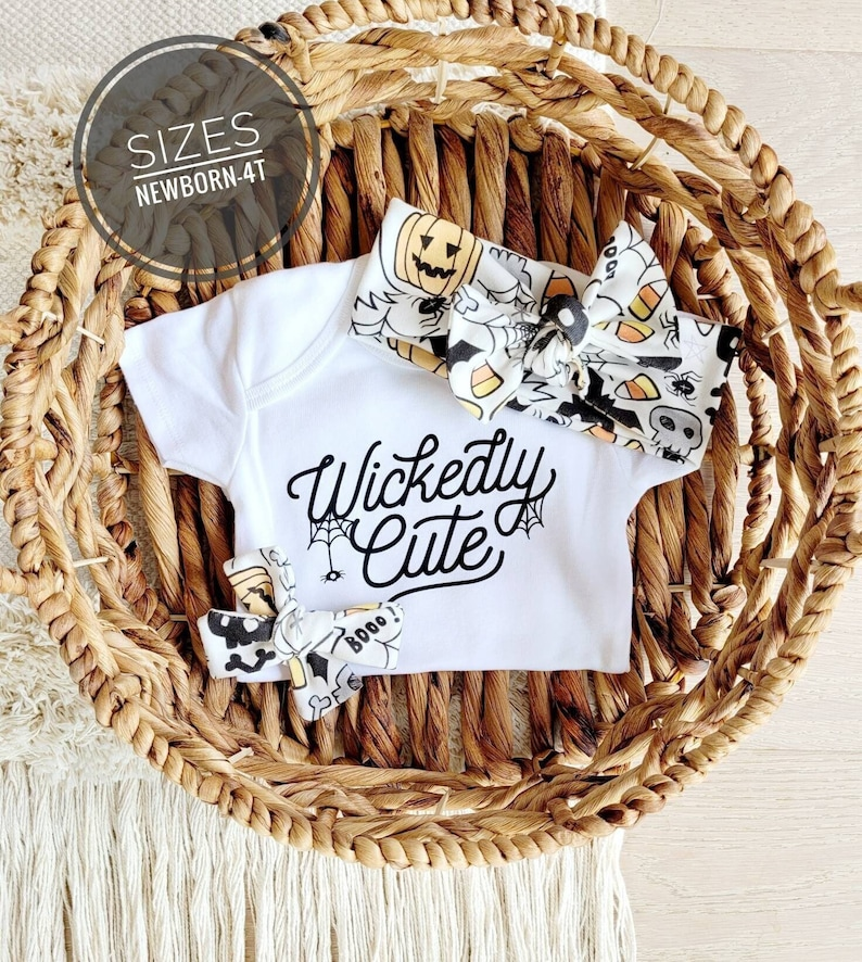 Halloween Shirt for kids Halloween baby girl outfit wickedly image 1
