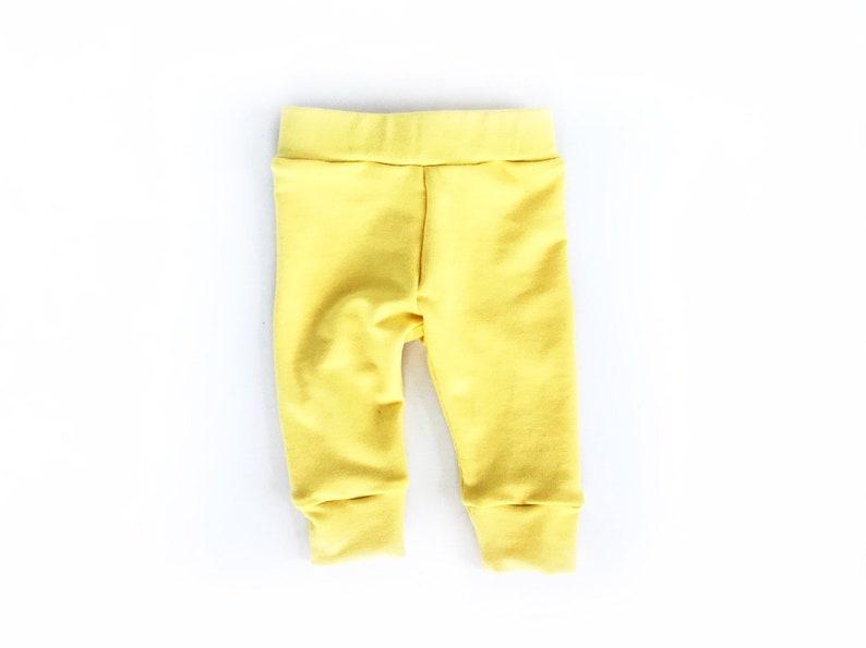 Yellow Baby Girl Leggings Summer Newborn Pants Bamboo Knit Etsy