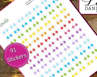 91 Small Weights Dumbbells Barbells Planner Stickers for Erin Condren Life Planner (ECLP) Reminder Sticker LDD1032