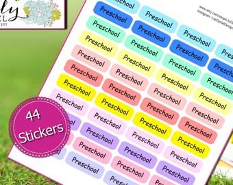 44 Preschool School Horizontal Vertical Planner Stickers for Erin Condren Life Planner (ECLP) Reminder Sticker LDD1205
