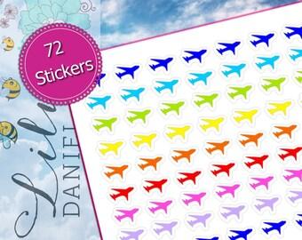 72 Airplane Plane Flight Trip Work Vacation Planner Stickers for Erin Condren Life Planner (ECLP) Reminder Sticker LDD1056