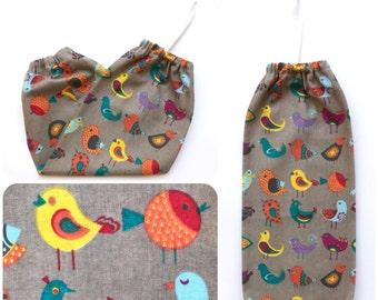 Plastic Bag Holder/ Grocery Bag Holder/ Bag Dispenser - Little Birds