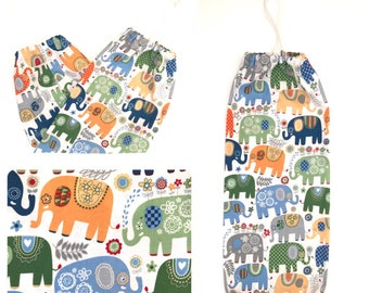 Plastic Bag Holder/ Grocery Bag Holder/ Bag Dispenser - Elephants