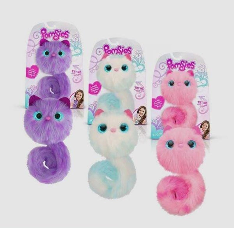 Pomsies *Blossom* Skyrocket Interactive Cat Toy NIB Pom Pom Toy Backpack Accessories