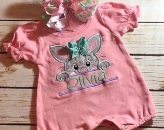 f306122c291 Personalized Easter bunny romper
