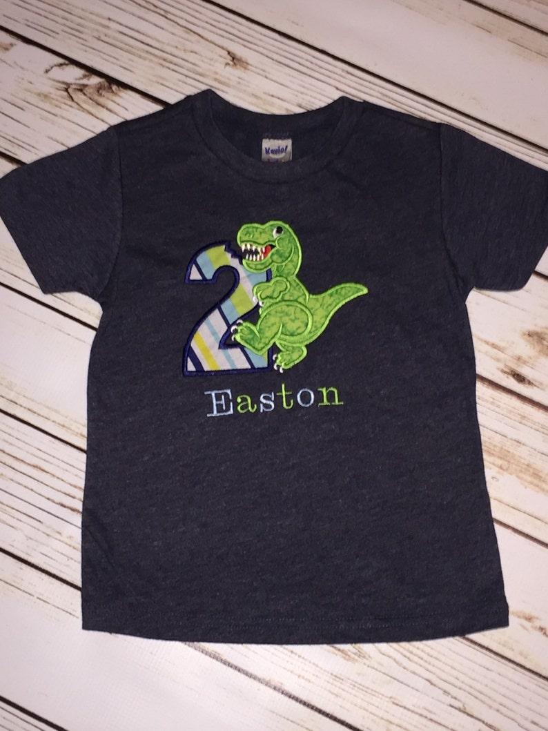 Dinosaur Second Birthday Shirt 2nd