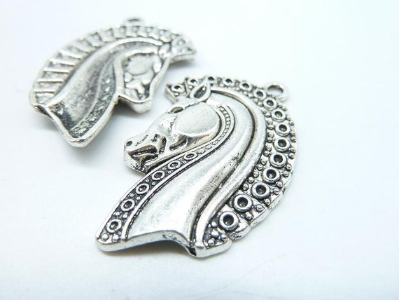 Dragon Charm//Pendant Tibetan Antique Silver 38mm  5 Charms Accessory Jewellery