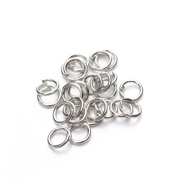 Split Ring Open Connectors Charm Pendant Necklace accessories OD: 4  5  6  7  8  10  12mm 8 Colors Choice 10g Jump Rings Collection