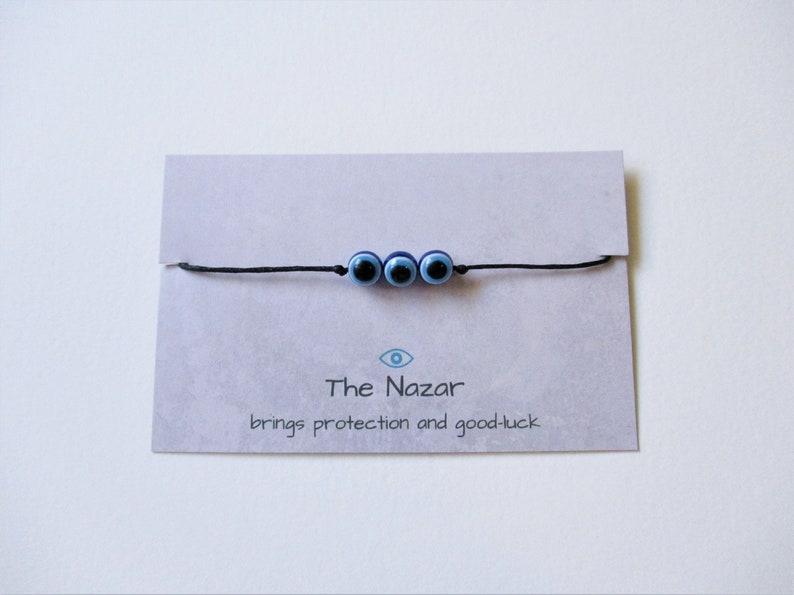small gifts nazar jewelry evil eye jewellery Nazar Wishstring Bracelet drawstring bracelet evil eye bracelet Buy 2 Get 1 Free