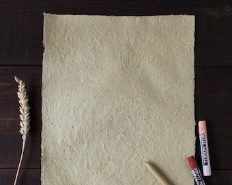 Сalligraphy paper Textured paper Deckle edge paper wedding invitation Beautiful handmade paper (#32)